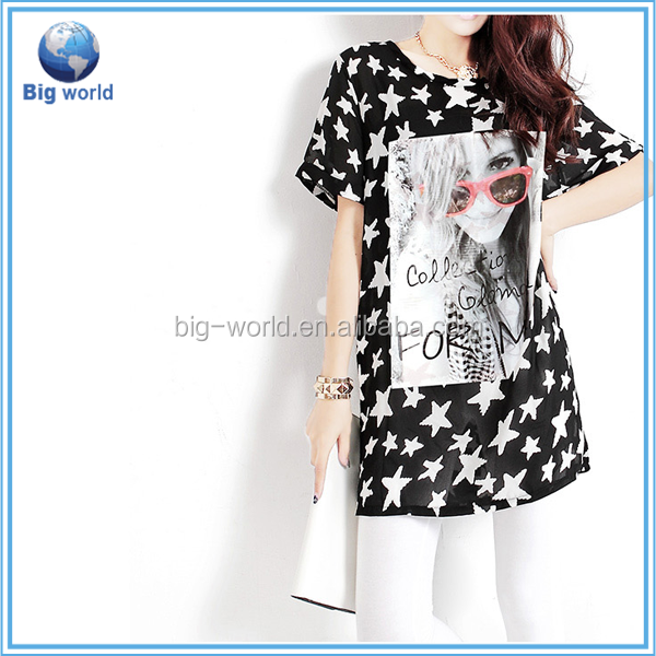 New fashion women Euro Size T Shirts&Cartoon Animation Casual women T shirts Printing t shirts