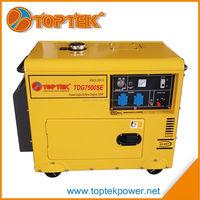 manufacturer 476cc 190fa three phase silent diesel generator 6.5kva