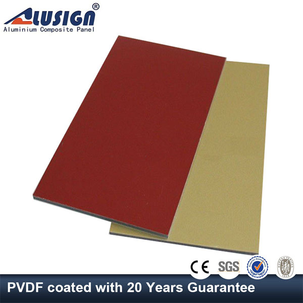 Alusign 20 years guarantee aluminum composite roof decoration panels material
