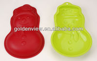 Christmas snowman shaped silicone cake pudding jelly baking mold mould mode bakeware