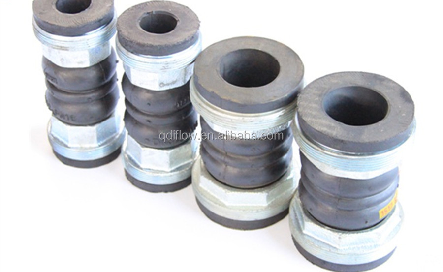 PN10 Double Sphere Flanged Rubber Expansion Joints NBR