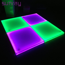 Acrylic Cover 30 Channels Master Control Rgb Color Changing Stage Light Tiles Dj Led Dance Floor Led