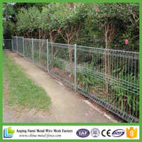 The Acacia moss green durable and easy fencing system Pvc coated rolltop fence(foshan)