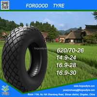 Forgood agricultural bias tractor tyre from China 620/70-26/14.9-24/16.9-28/30
