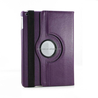 Rotating Leather Smart Tablet Case Cover Stand With Sleep/Wake For Ipad Air 5 Ipad 234 Ipad Mini
