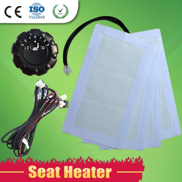 Carbon Fiber Round Switch Control Two Seats Heated Car Seat Cover
