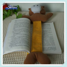 custom animal design plush rabbit bookmarks soft toy for children