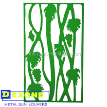 Metal decorative perforated screen metal room divider/garden partition panel