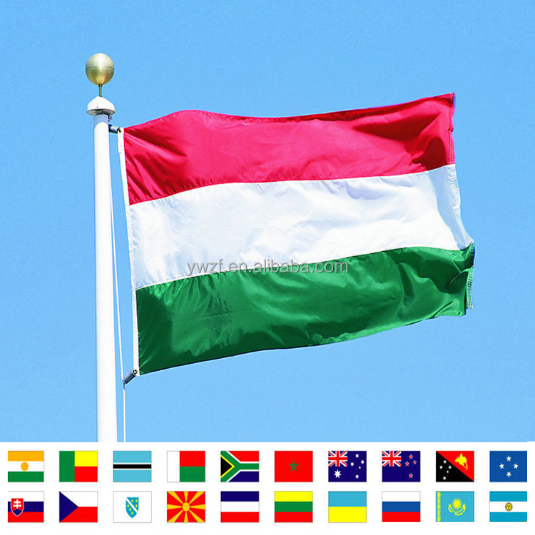 Digital printing large size custom Hungary Flag