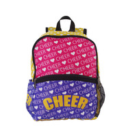 Bright colour solar backpack folding teens sport bag for cheer