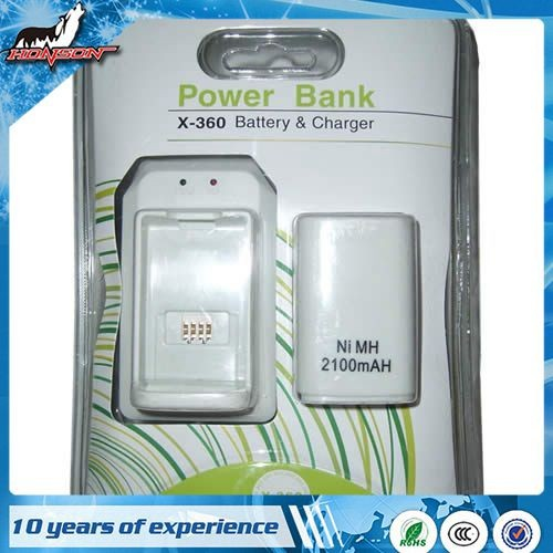 Accessories For XBOX360 Power Bank Battery and charger