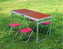 4 ft portable folding camping adjustable table