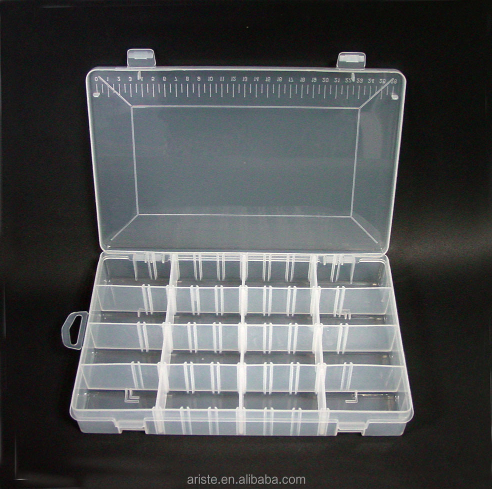 21855 Clear Plastic Storage Box with Removable Lattices