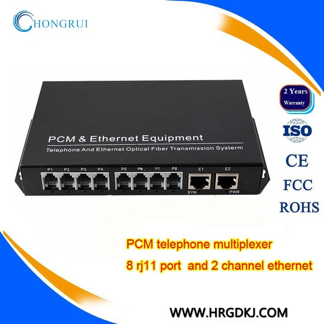 China Manufacture PCM telephone MUX 8 channel voice over fiber converter