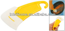 2014 hot sale silicone kitchen scraper, Silicone Spatula Dishes Spatula Dish Bowl Scraper Cleaning Blade in Kitchen
