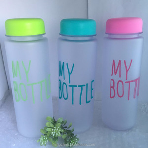 Hot Sale Plastic Sports water bottle 500 ml my bottle With colourful Cap