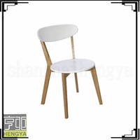White oak melamine mdf with round edge dining chair