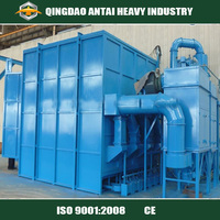 Q26 series sand blasting shot blasting cabinet for clean sheet metal parts