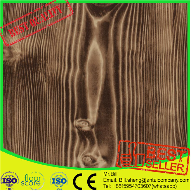 Anti Slip Wood Look Durable Pvc 9 Inch Vinyl Tile Flooring