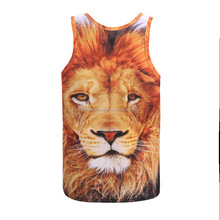 Wildlife Face Eyes Lion 3D Print Tank Tops Kids Men Women Undershirt Sportswear Teen Cotton Tee Loose Unisex Garment