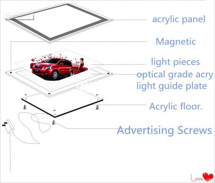 Led slim snap frame light box