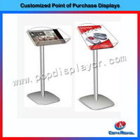 Customized design accessory holder glass store mobile phone display showcase