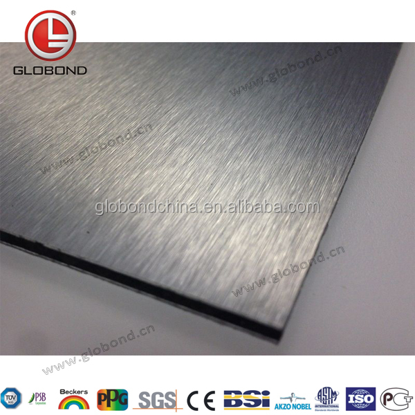 GLOBOND Silver Brush ACP/ Aluminium Composite Material/ Interior Decorative Panel