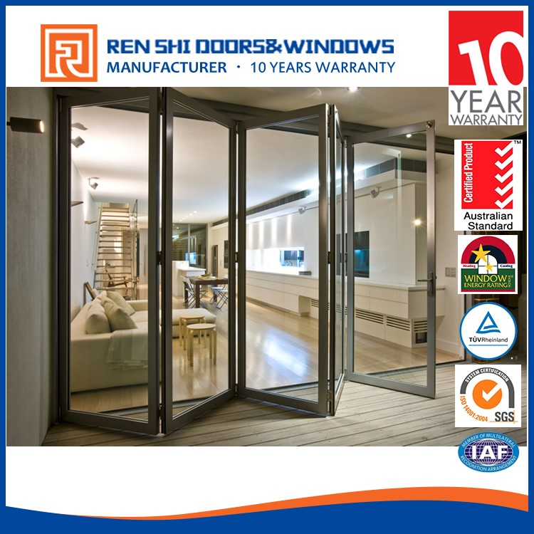 AS2047 standard fire rated aluminum glass folding doors room dividers