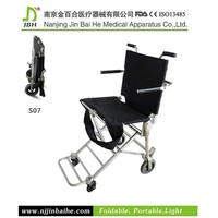 Transfer handicapped tricycle type wheel chair