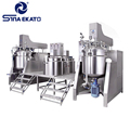 Stainless steel emulsifier mixer homogenizer vacuum emulsifying mixer for cosmetic, shampoo and cream