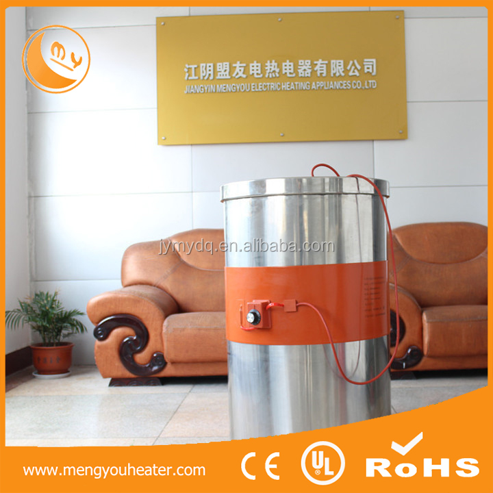 Customized flexible oil drum heater,220v silicone rubber heater