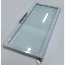 China High Quality White Aluminum Alloy Frame Freezer Glass Swing Door