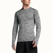 Custom sport wear men long sleeve compression running shirt