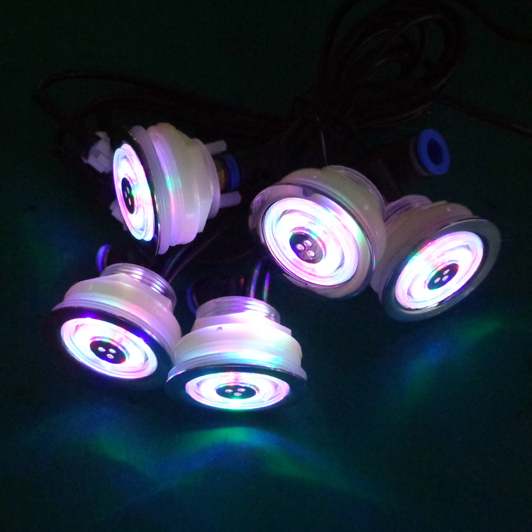 Auto changing color LED pool lights for massage tub/pool