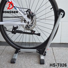HS-T026 promotion portable foldable mountain bike parking rack on floor