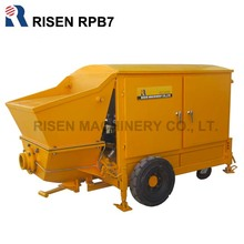 Small Hydraulic Double-piston Concrete Pump 7m3/hour for ready wet mix, refractory concrete pumping/grouting for sale