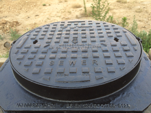 Alibaba Best EN124 Standard Ductile Cast Iron Manhole Cover Foundry Price