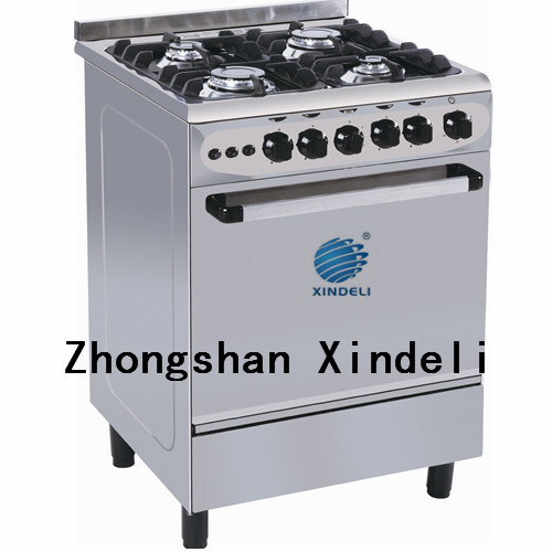 (60x60) 4 Burners Gas Cooker Oven with Up and Down Burner pyrolytic self cleaning