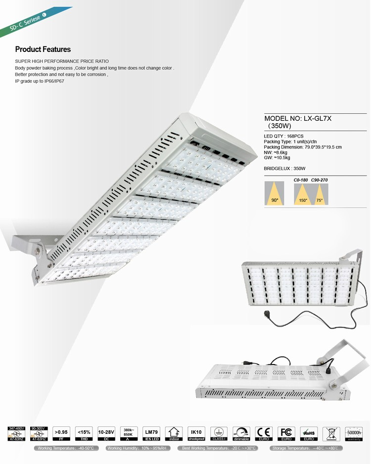China supplier light angle optional waterproof IP67 350w led grow lights customized spectrum for herbal medical plants