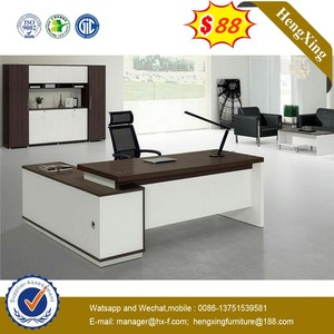 With Bookshelf Living Office Desk Executive Office Table with Office Cabinet (NS-ND060)