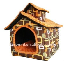 Plush duplex villa orange pet toy