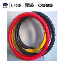 Promotional Gift Manufacture Eco-friendly silicone car steering wheel cover