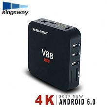 HD android set top box quad core RK3229 media player V88