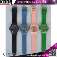 Silicone Or Pu Plasitc Band Colorful Custom Very Cheap Watches