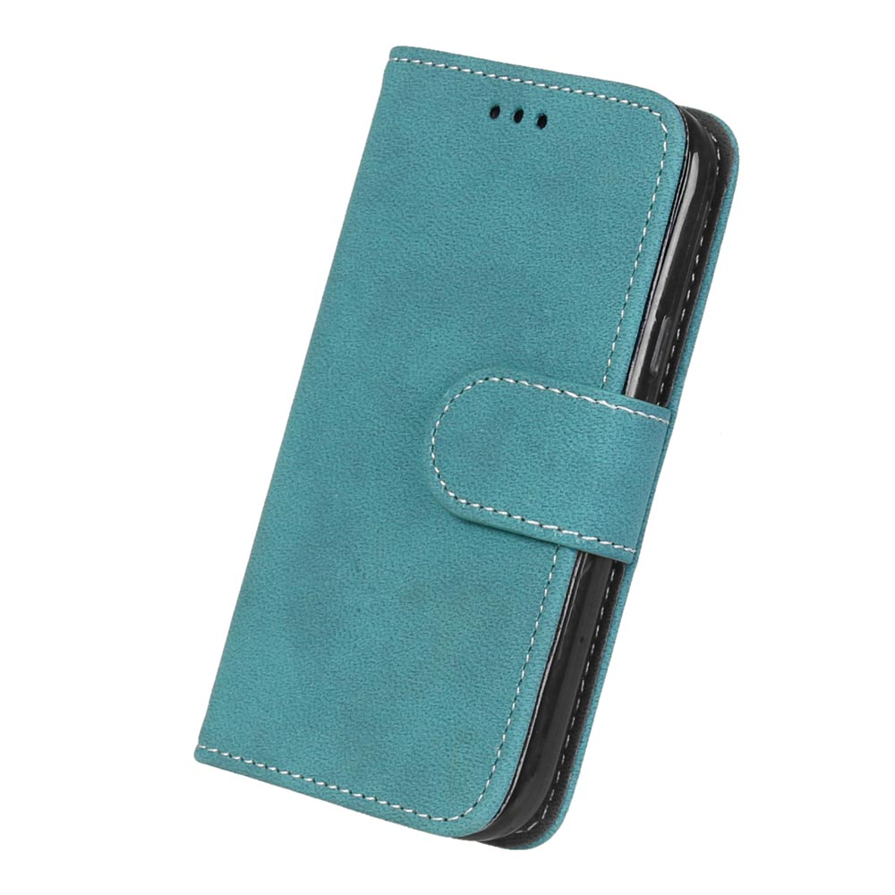 Fashion Retro Scrub PU Leather Case For Samsung Galaxy S4 mini i9190 Cover Cases Card Slots Wallet