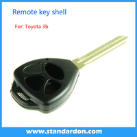 Hot sale Toyota transponder key shell Toy41 right blade with toyota smart key remote cover 3 button for toyota