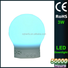 New design bluetooth speaker led lamp,bulb led light with IOS andriod phone control,changeable color led bulb
