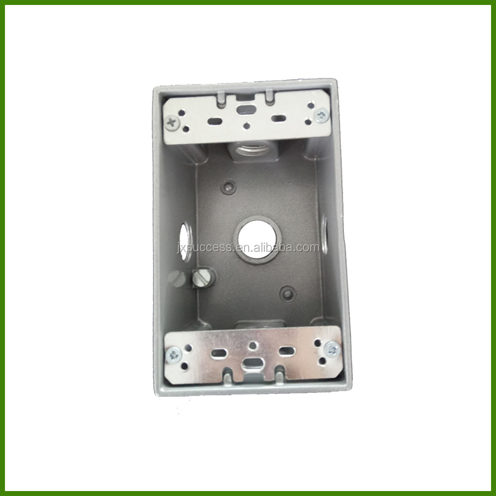 One Gang Aluminum Weatherproof Electrical Outlet Box Size
