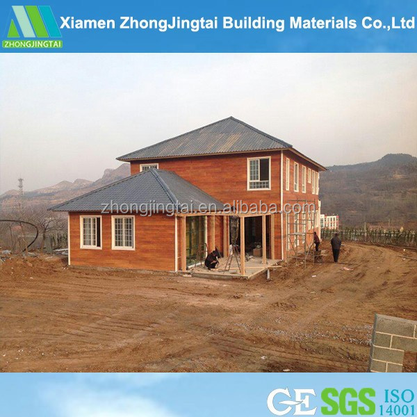 Economic prefabricated steel kit log cabin modular homes (manufacturer)