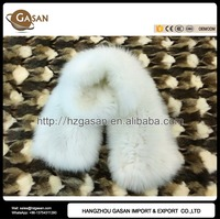 Long Pure White Luxury Fluffy 100% Real Knitted Fox Fur Scarf